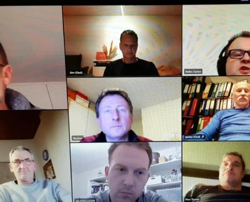 der Vorstand SGBNR bei der ersten Sitzung 2021